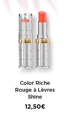 Color Riche Rouge à Lèvres Shine - 12,50€