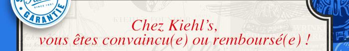 Chez Kiehl's, vous êtes convaincu(e) ou remboursé(e)