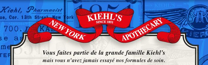 Kiehl's since 1851 - New York - Apothecaryv - Vous faites partie de la grande famille Kiehl's mais vous n'avez jamais essayé nos formules de soin.