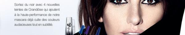 Sortez du noir avec 4 nouvelles teintes de Grandiôse qui ajoutent à la haute-performance de notre mascara déjà culte des couleurs audacieuses tout en subtilité.