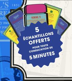 5 échantillons offerts pour toute consultation de 5 minutes