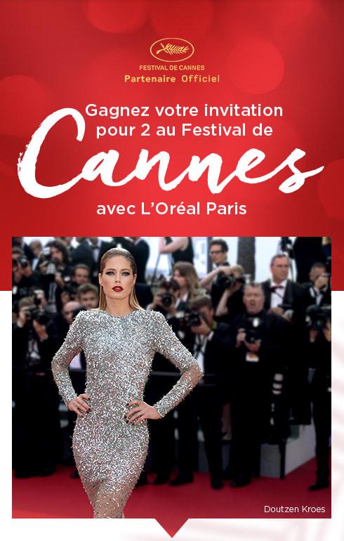 FESTIVAL DE CANNES Partenaire Officiel - Gagnez votre invitation pour 2 au Festival de Cannes avec L?Oréal Paris - Doutzen Kroes
